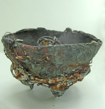 Bronze Bowl with Magnonlia Pods