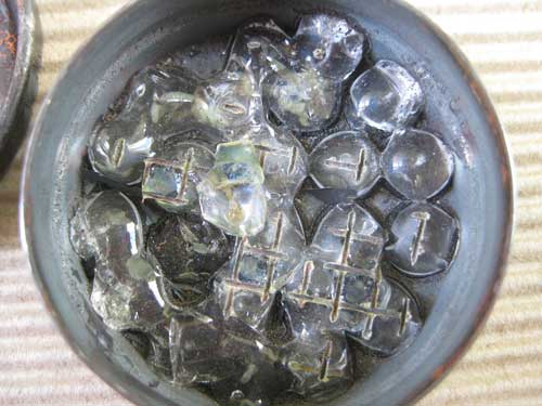 Glass Beads Fired in Kiln