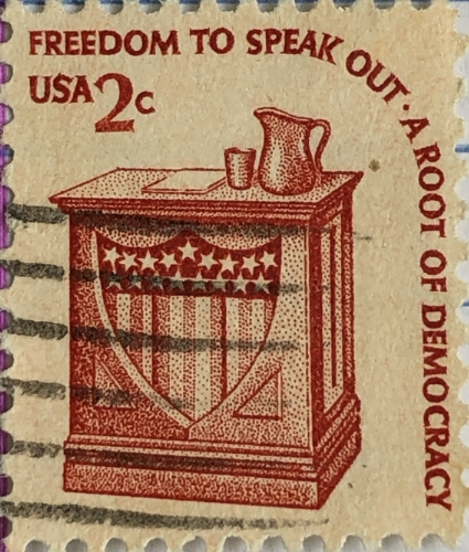 Speak Out Postage Stamp