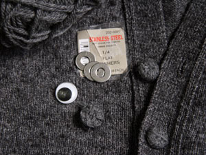 Wool and Washer Buttons